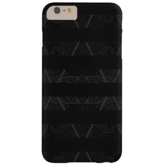 Striped Argyle Embellished Black Barely There iPhone 6 Plus Case