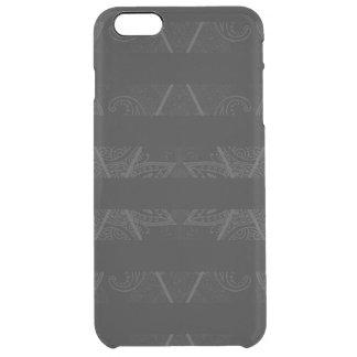 Striped Argyle Embellished Black Clear iPhone 6 Plus Case