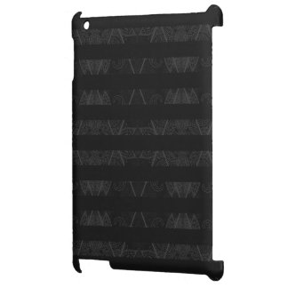 Striped Argyle Embellished Black iPad Covers