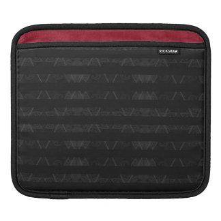 Striped Argyle Embellished Black iPad Sleeve