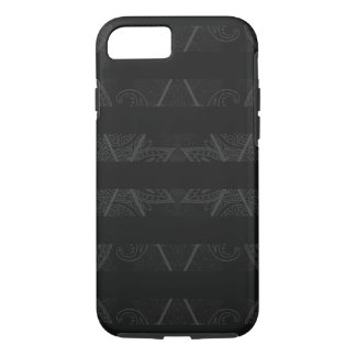 Striped Argyle Embellished Black iPhone 8/7 Case