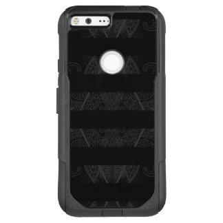 Striped Argyle Embellished Black OtterBox Commuter Google Pixel XL Case