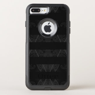 Striped Argyle Embellished Black OtterBox Commuter iPhone 8 Plus/7 Plus Case