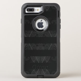 Striped Argyle Embellished Black OtterBox Defender iPhone 8 Plus/7 Plus Case