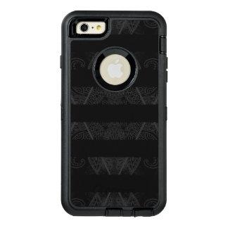 Striped Argyle Embellished Black OtterBox Defender iPhone Case
