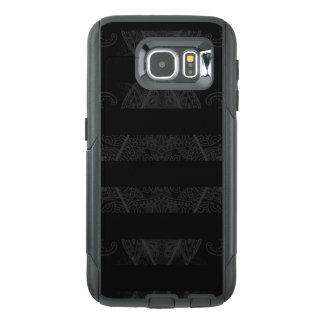 Striped Argyle Embellished Black OtterBox Samsung Galaxy S6 Case