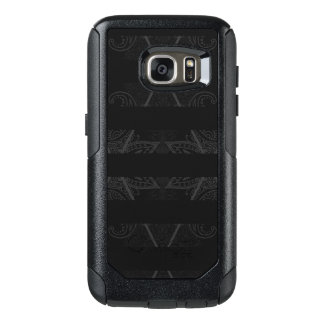 Striped Argyle Embellished Black OtterBox Samsung Galaxy S7 Case