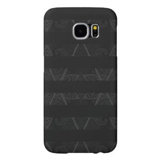 Striped Argyle Embellished Black Samsung Galaxy S6 Cases