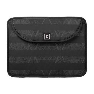 Striped Argyle Embellished Black Sleeve For MacBooks
