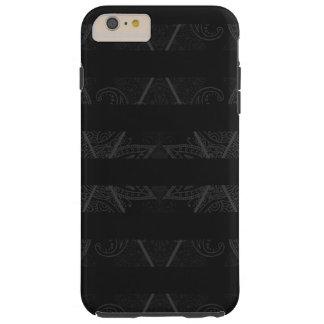 Striped Argyle Embellished Black Tough iPhone 6 Plus Case