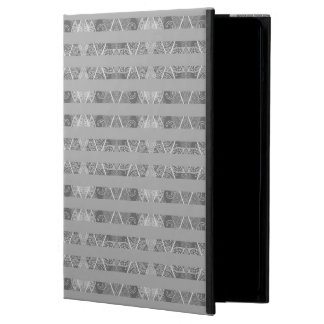 Striped Argyle Embellished Grey iPad Air Cover