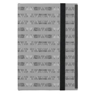 Striped Argyle Embellished Grey iPad Mini Cover