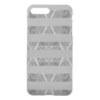 Striped Argyle Embellished Grey iPhone 8 Plus/7 Plus Case