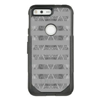 Striped Argyle Embellished Grey OtterBox Commuter Google Pixel Case