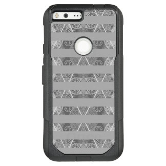Striped Argyle Embellished Grey OtterBox Commuter Google Pixel XL Case