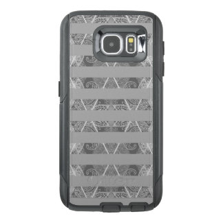 Striped Argyle Embellished Grey OtterBox Samsung Galaxy S6 Case