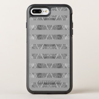 Striped Argyle Embellished Grey OtterBox Symmetry iPhone 8 Plus/7 Plus Case