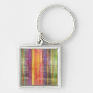 Striped Art Pattern Keychain