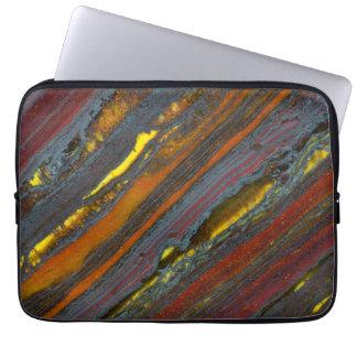 Striped Australian Tiger Eye Laptop Sleeve
