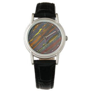 Striped Australian Tiger Eye Wrist Watch
