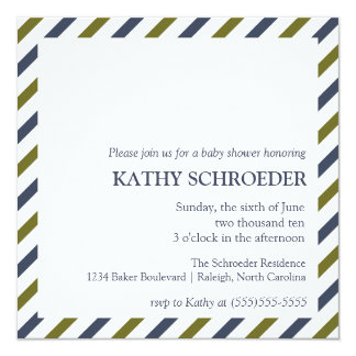 Striped Baby Shower Invitation Template