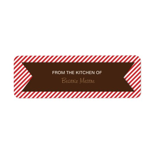 Striped Background Kitchen Labels