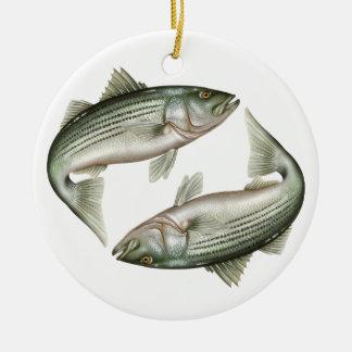 Striped Bass Ceramic Ornament