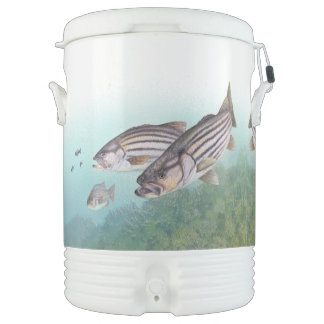 Striped Bass Fish Ocean Fishing Igloo Cooler