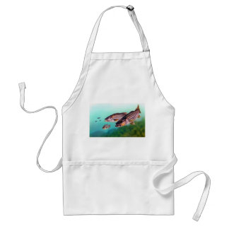 Striped Bass Swimming Standard Apron