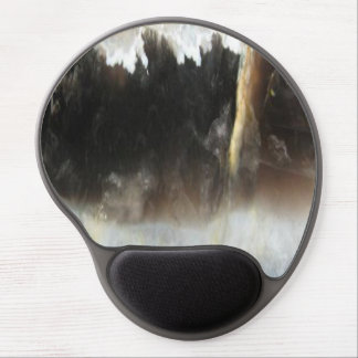 Striped Black Agate, Cool Unique Nature Stone Gel Mouse Pad