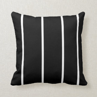 Striped Black and White > Square Throw Pillow