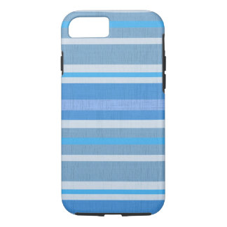 Striped Blue cotton Fabric Pattern iPhone 8/7 Case