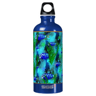 Striped Blue Fish and Stars SIGG Traveller 0.6L Water Bottle
