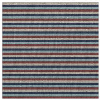 Striped Blue & Marsala Custom Fabric