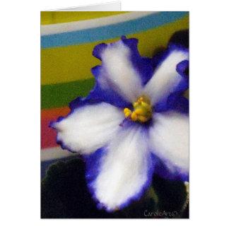 Striped Blue Violets Note Card