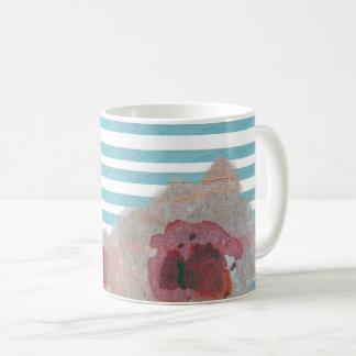Striped Boho Chic Floral Pattern | Coffee Mug