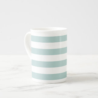 Striped bone china mug