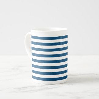 Striped bone china mugs