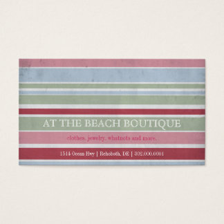 Striped Boutique Business Cards
