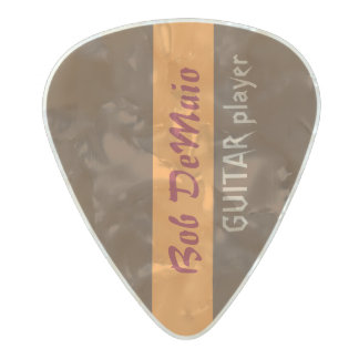 striped brown create your own pearl celluloid guitar pick
