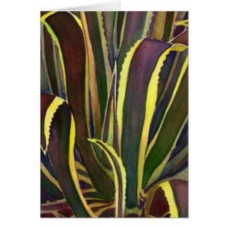 Striped century plant notecard