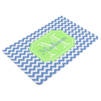 Striped chevron patterned floor mat