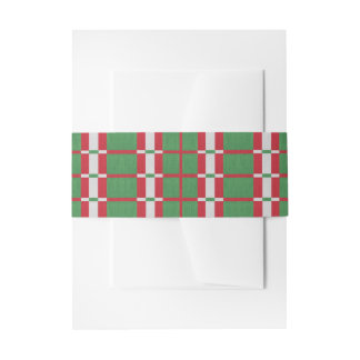 Striped Christmas Invitation Belly Band