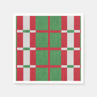 Striped Christmas Paper Napkins