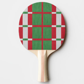Striped Christmas Ping Pong Paddle