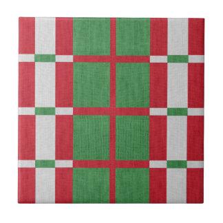 Striped Christmas Tile