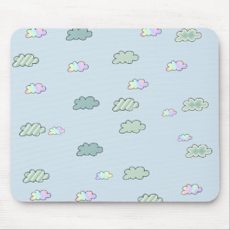 Striped Clouds Mouse Pad