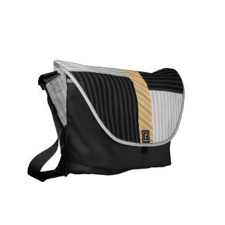 Striped ColorBlock Messenger Bags