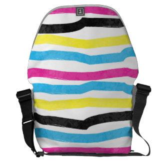 Striped Colorful Messenger Bag
