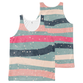 Striped Colorful  Pattern All-Over Print Singlet